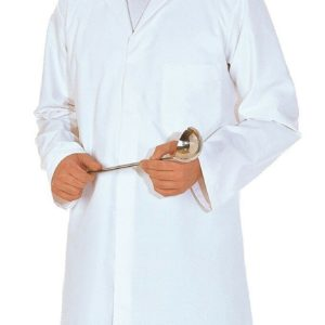 PORTWEST 2206 mens white polycotton food coat with 3 internal pockets sz XS-3XL