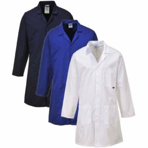 PORTWEST C852 navy standard polycotton lab warehouse coat
