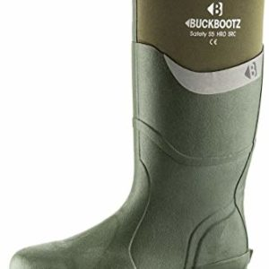 Buckler BBZ6000 S5 green safety wellington Buckbootz knee length boot