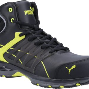 Puma Velocity 2.0 Mid S3 black/yellow composite toe/midsole work safety boots